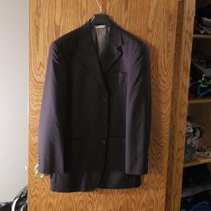 2 piece Perry Ellis black suit